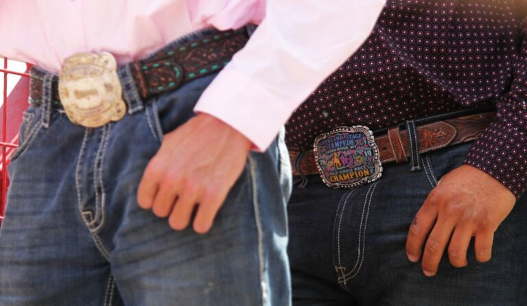 Rodeo Competitors Show Their Pride with Trophy Buckles